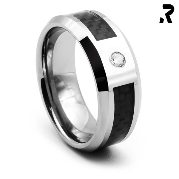 WOLFRAM CARBON RING Black Star