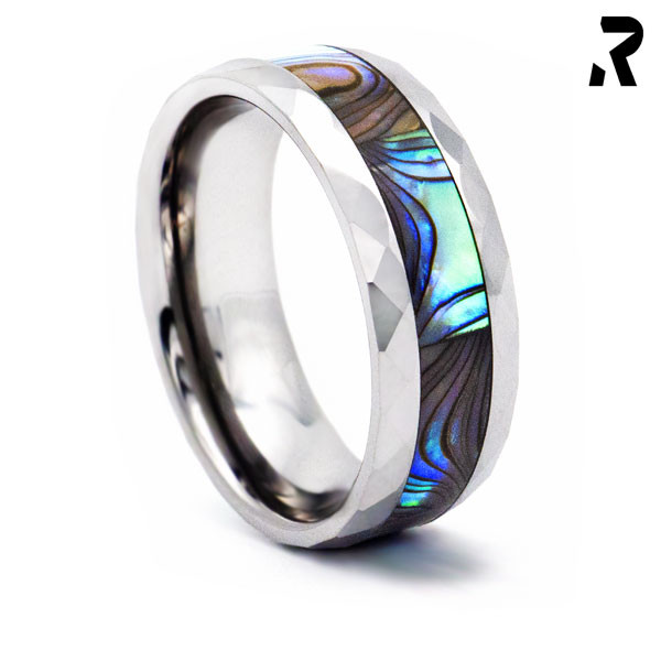 WOLFRAM ABALONE RING White Pearl